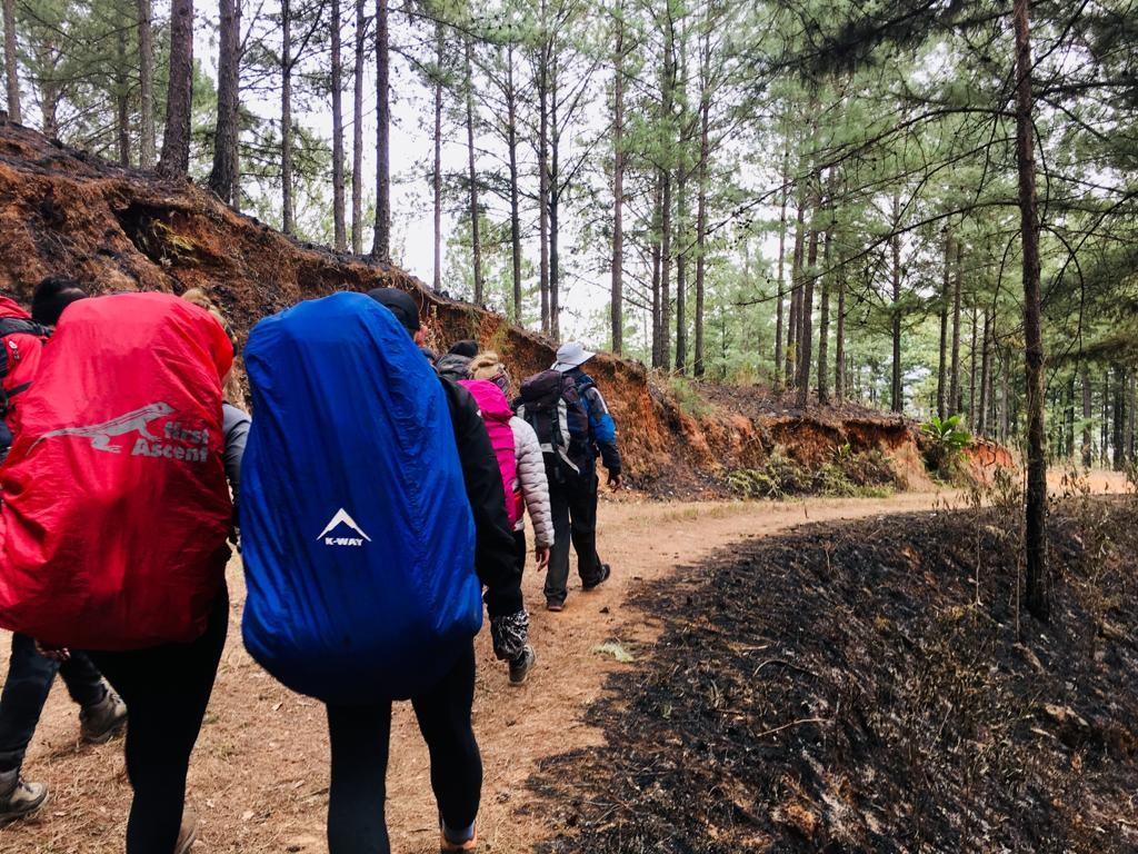 Warriors on a hike